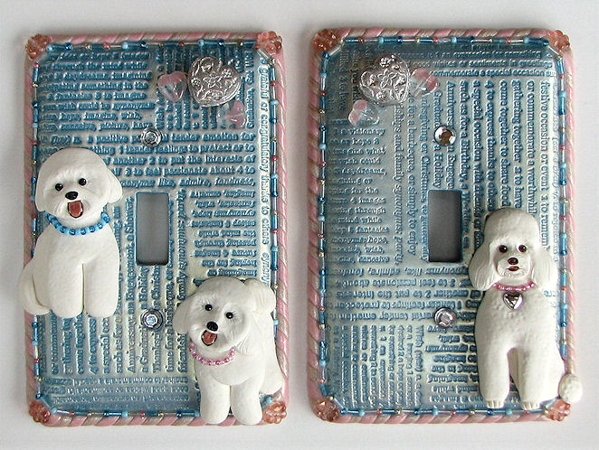 Poodle and Bichon Switchplates